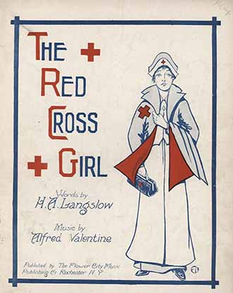 The red cross girl, cover art