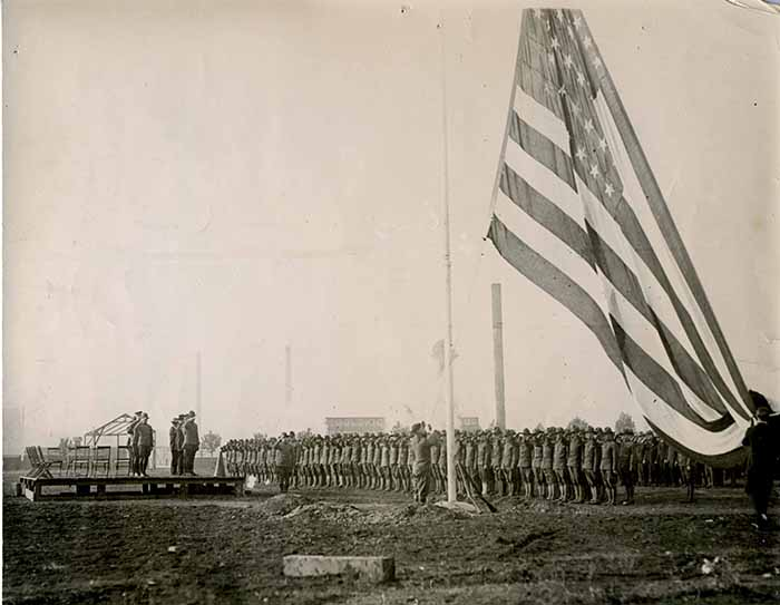 Apr 22, 2016 Students Army Training Corps entering the United States Service, Oct. 1, 1918