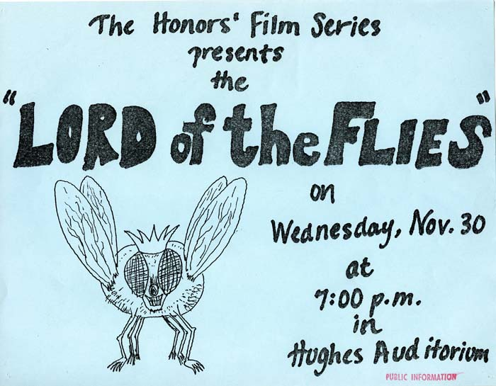 Honors Film Series Poster, c. 1970