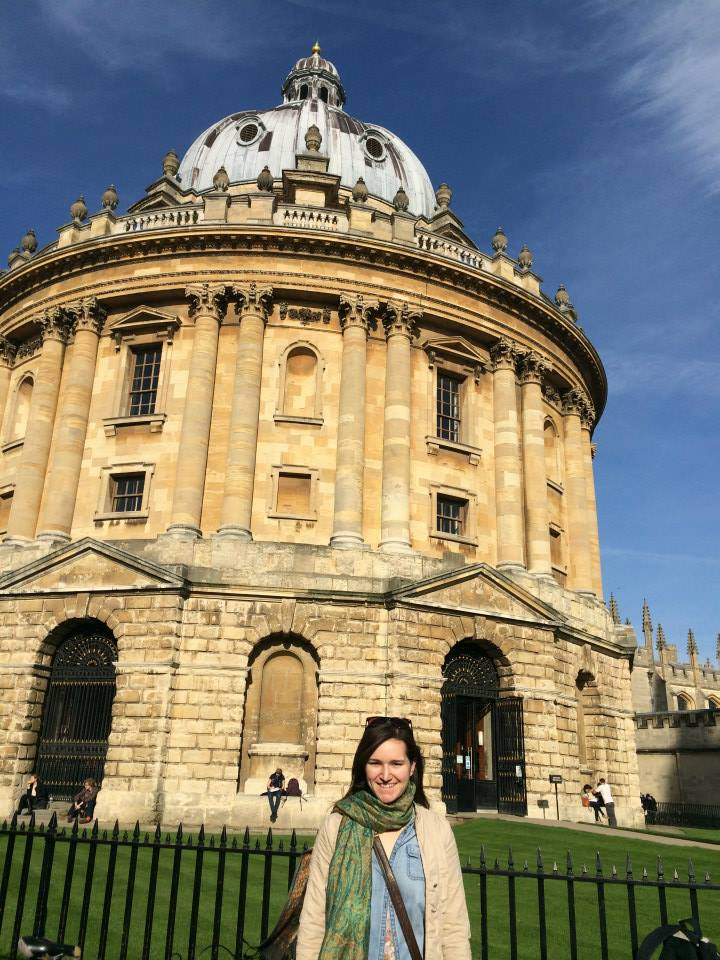 Margaret Thompson-Johnston, class of 2016, in Oxford, Fall 2014.