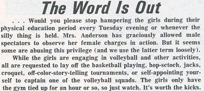 """The Word is Out,"" The Bulletin, Dec. 9, 1964."