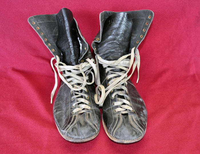 Carl Maxey's Boxing Shoes from Front, about 1950