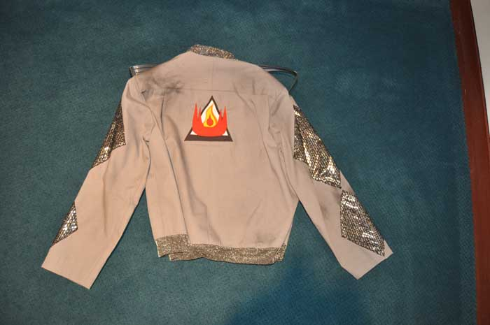 """Farenheit 451""-- 2007 firefighter costume jacket back"