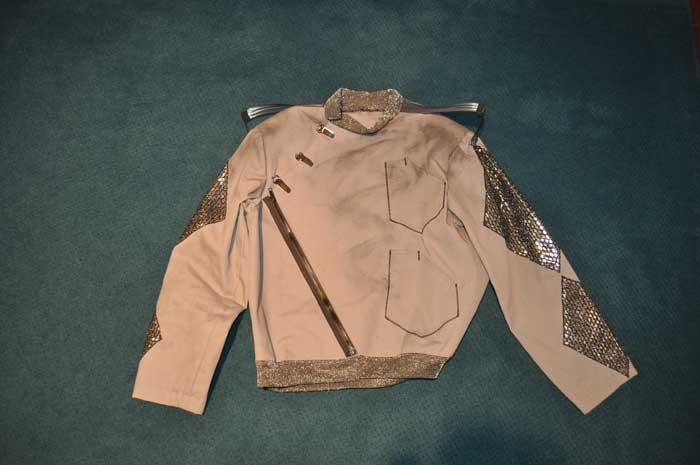 """Farenheit 451""-- 2007 firefighter costume jacket front"
