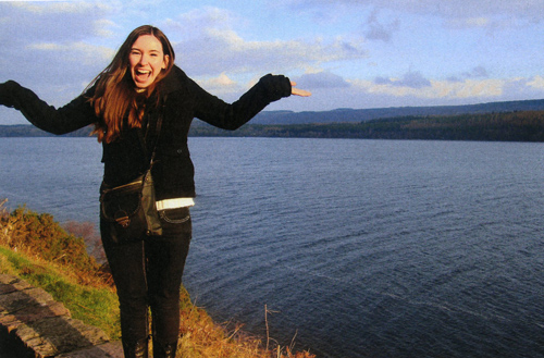 Tabitha Lovell, BA Psychology, looking for the Loch Ness Monster in Scotland, 2014. She was unsuccessful.