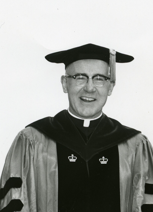 Fr. Neil McCluskey, S. J., professor of education, Dean of the School of Education 1964, Academic Vice President, Director of the Honors Program 1963-1964.