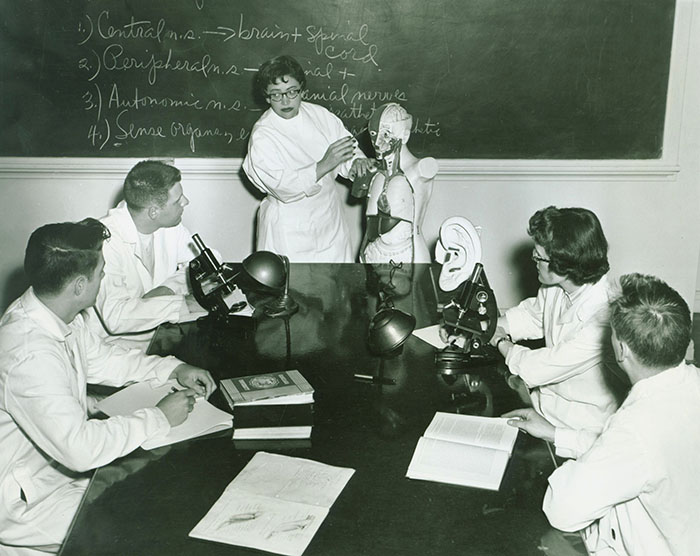 Antoinette Mariani and Students, 1957.