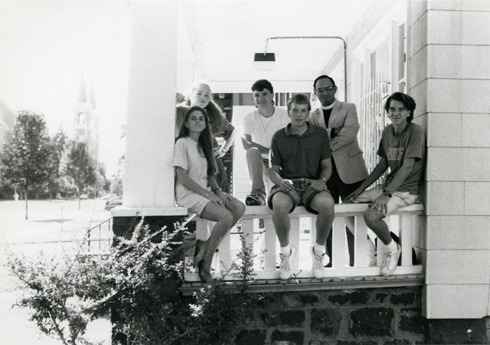 Students at the Hopkins House, c. 1990