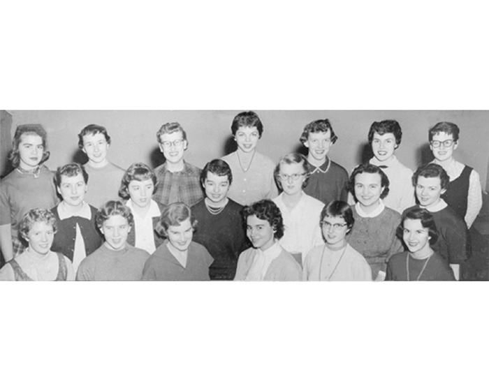 Inaugural Members of the Women's Athletic Association, 1955-1956.