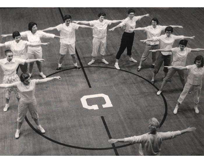 Women's Physical Education Class, 1958-1959.