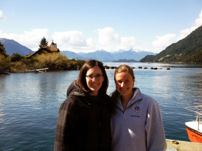 Sarah Reed, BA Honors History, and Mollie Picha, BA Honors International Relations and Environmental Studies, in Chile, 2014