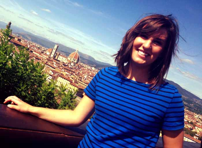 Sophie Henager, BA International Relations, in Florence, 2013