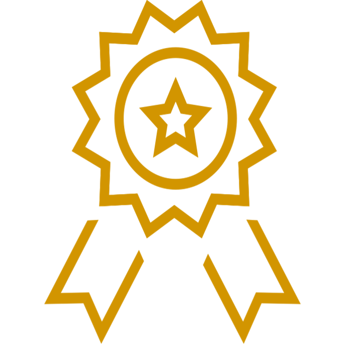 Icon of an award ribbon