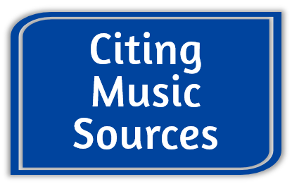 Citing Music Sources