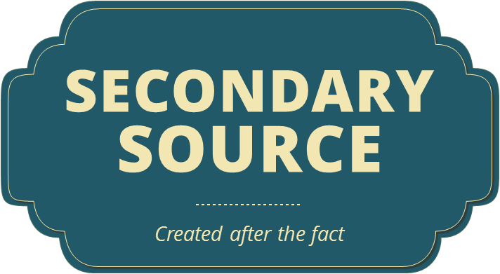 Secondary sources are created after the fact