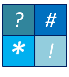 Truncation symbols include question mark, number sign, asterisk, and exclamation point.