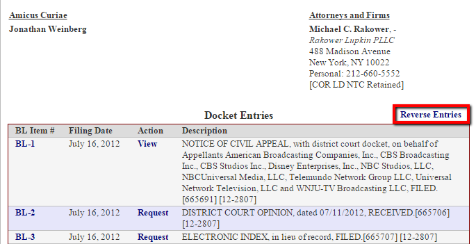 Downloading Pleadings - Dockets and Court Documents in