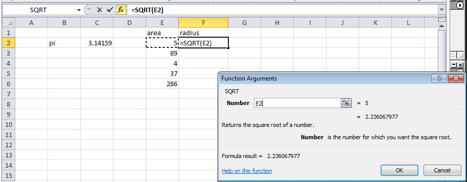 1 Formulas in Excel - BSCI 1510L Literature and Stats Guide