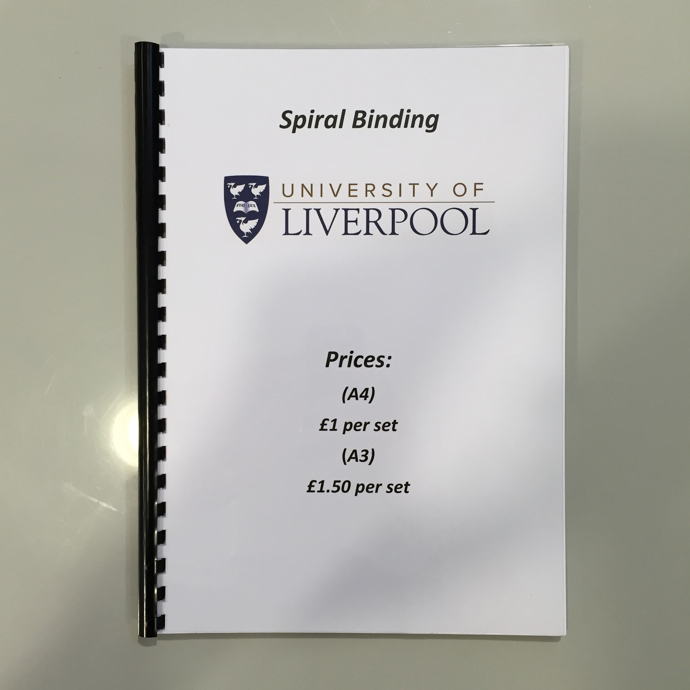 Thesis binding liverpool