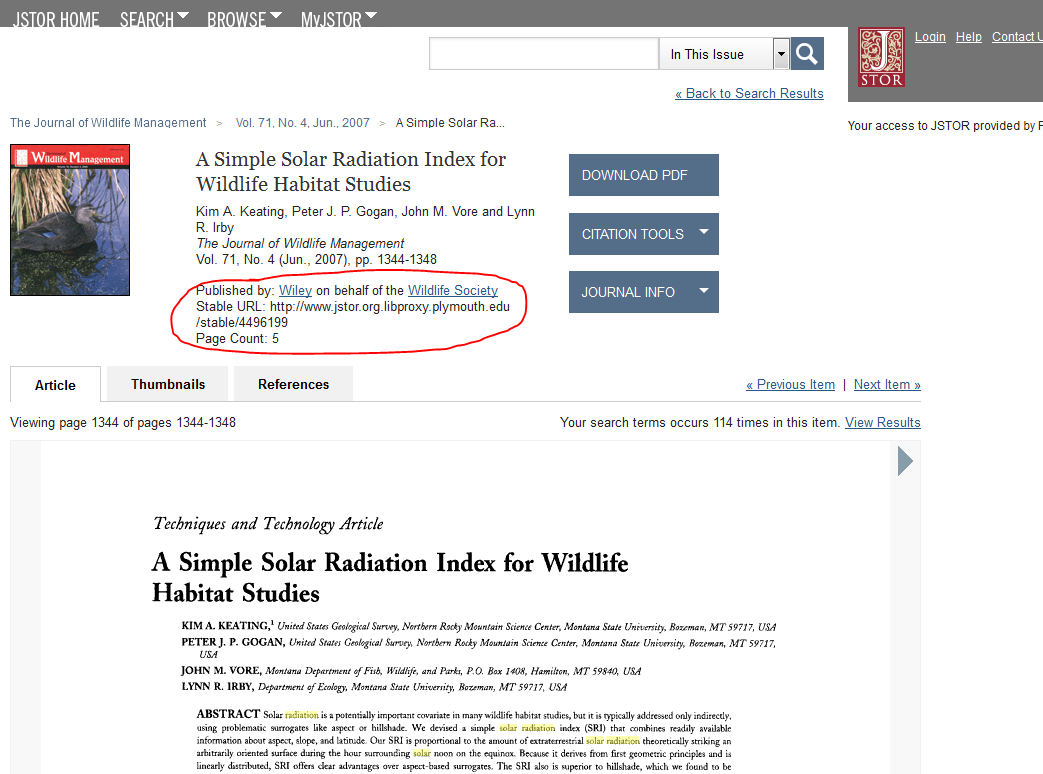 Get a JSTOR Stable URL