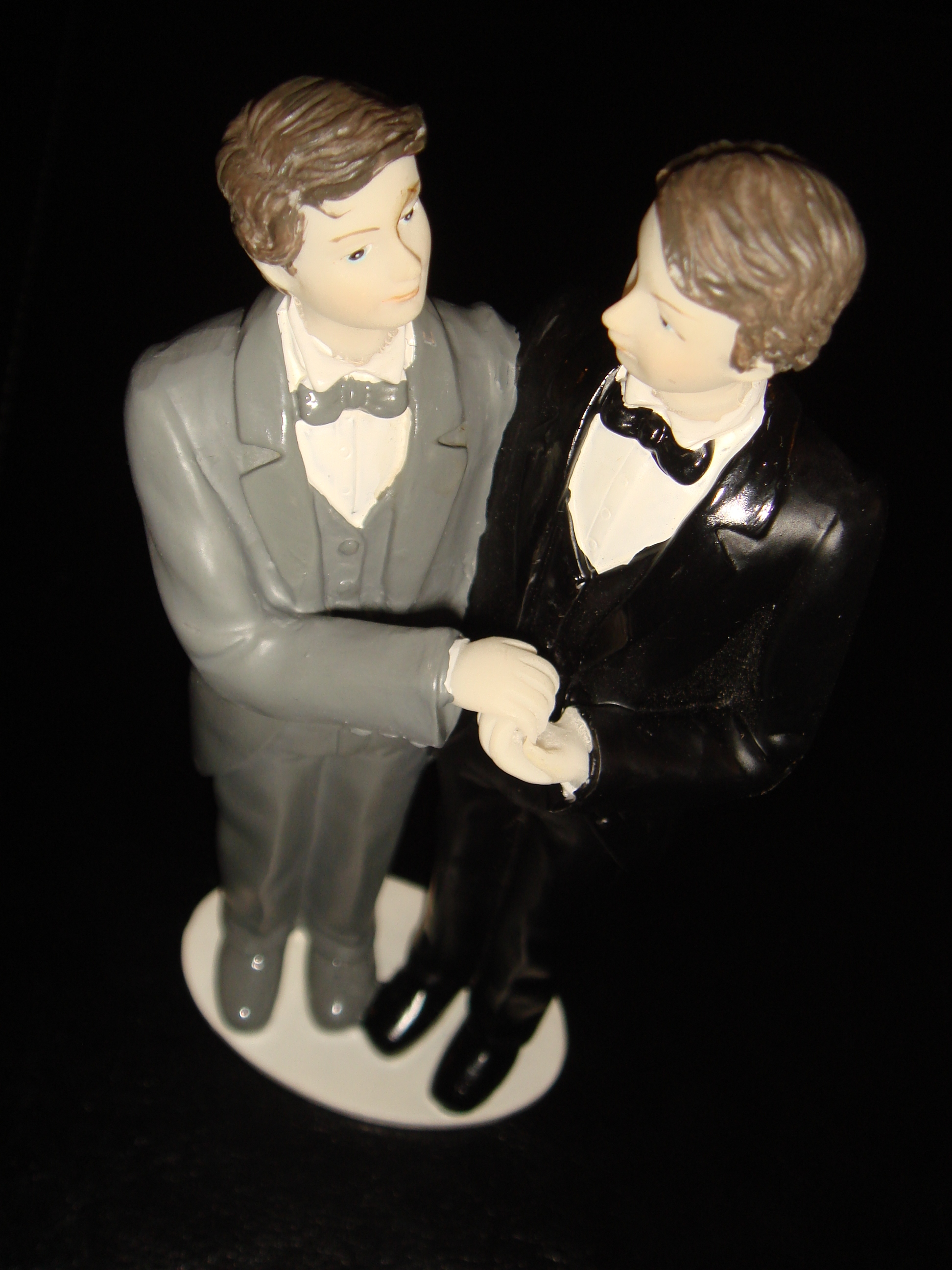 Gay couple for wedding cake by Stefano Bolognini