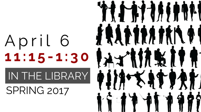 Human Library: April 6, 11:15-1:30 in the library, Spring 2017