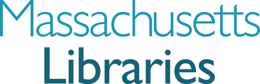 massachusetts board of library commissioners logo - stacked version for small spaces