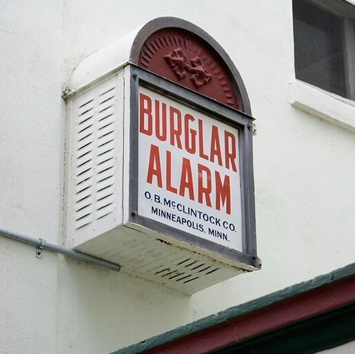 Burglar alarm on a house in Cocoa, Florida - Britannica ImageQuest