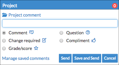 NoodleTools - Teacher comment options