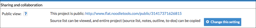 NoodleTools - teacher's public project