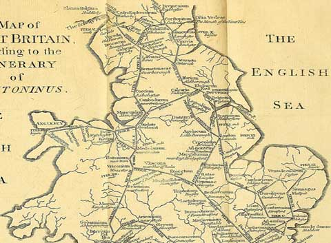 An historic map of central England