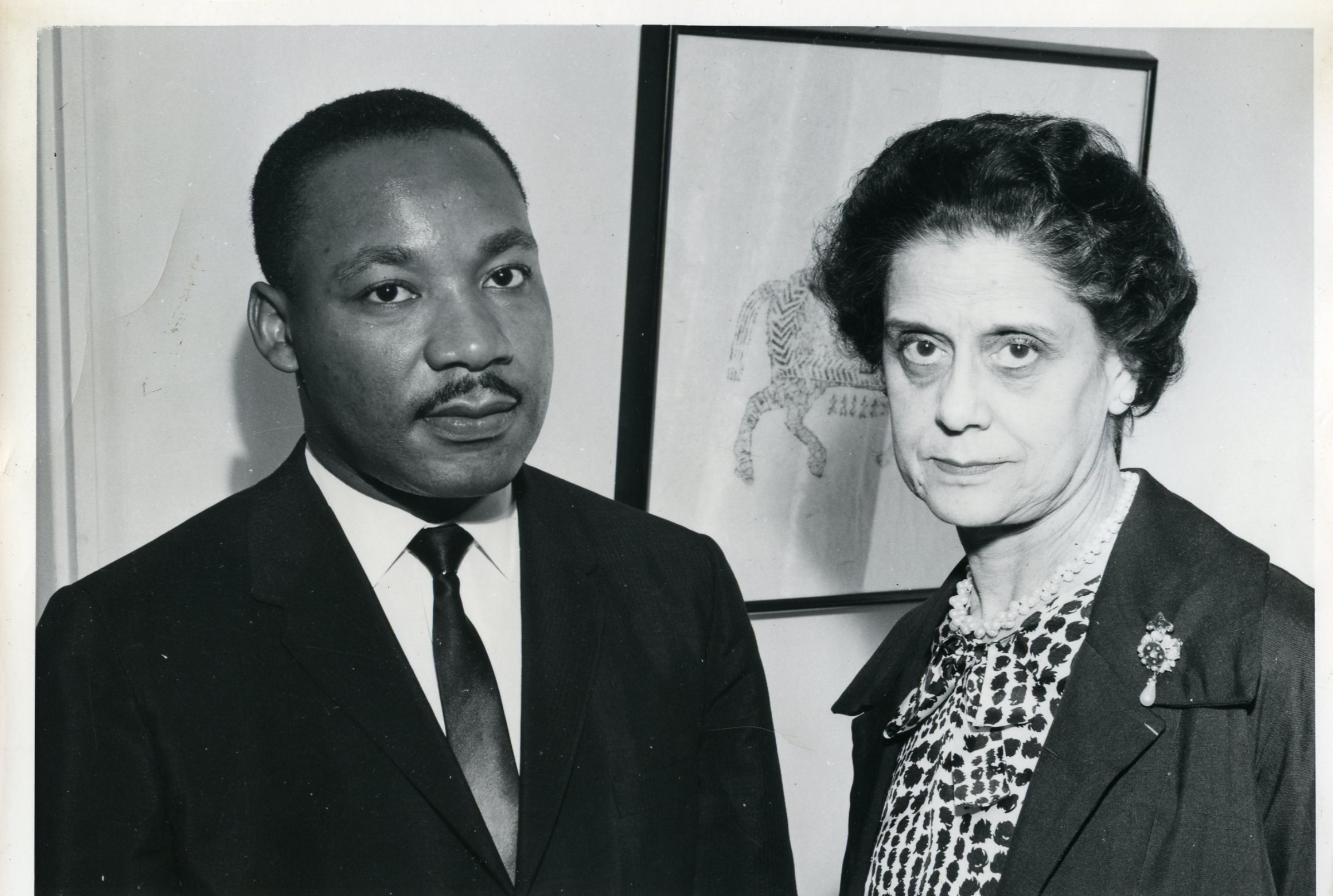 Lisa Sergio and Martin Luther King, Jr.