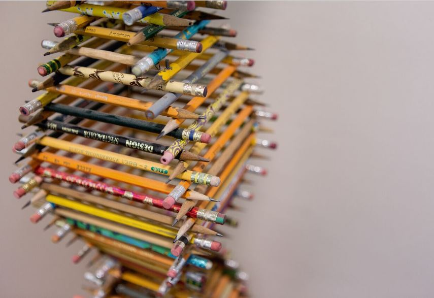 Original artwork: closeup of pencil sculpture