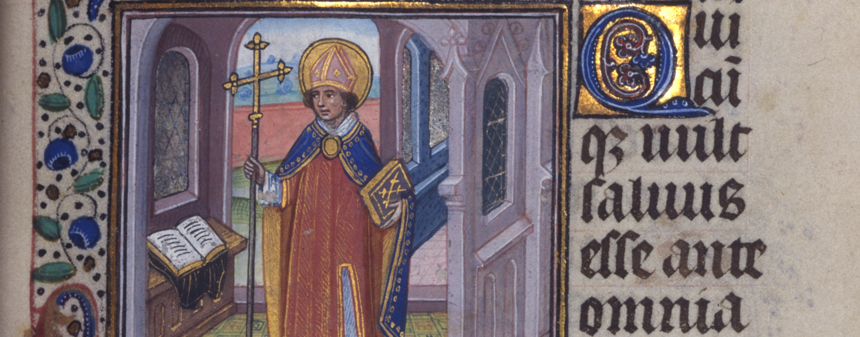 Detail of a miniature in the Farnsworth Hours