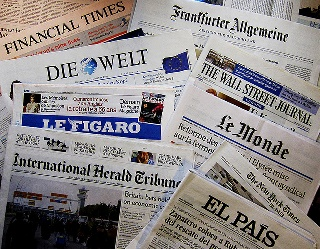 Image of international newspapers