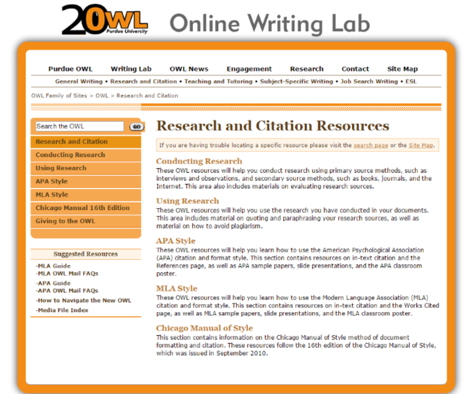 sample researching papers apa purdue owl reference