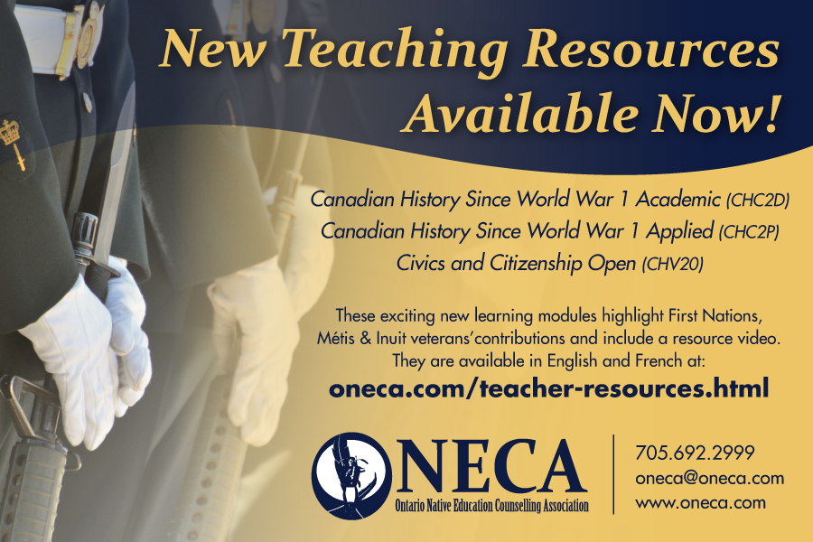 ONECA war poster--teacher resources-FNMI