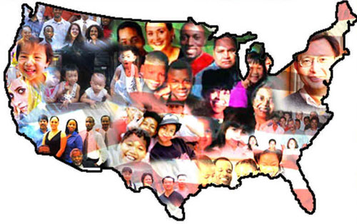 Multiethnic map of The United States