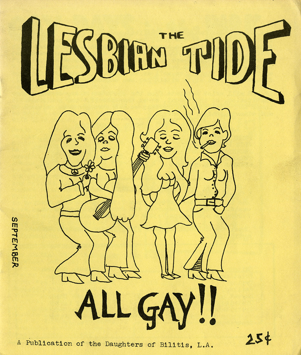 The Lesbian Tide cover - A Publication of the Daughters of Bilitis