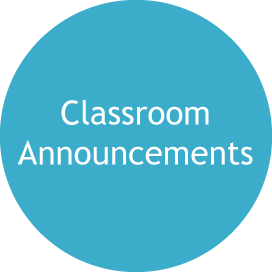classroom announcements icon