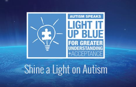 Light it up blue for autism logo