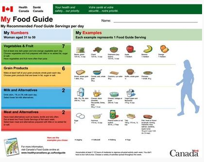 Canada S Food Guide Plate Proportions