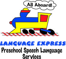 Language Express train logo