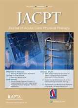 JACPT Journal of Acute Care Physical Therapy