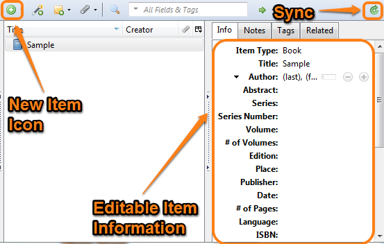How to get sources into zotero zotero libguides at american manually add items to zotero ccuart Images