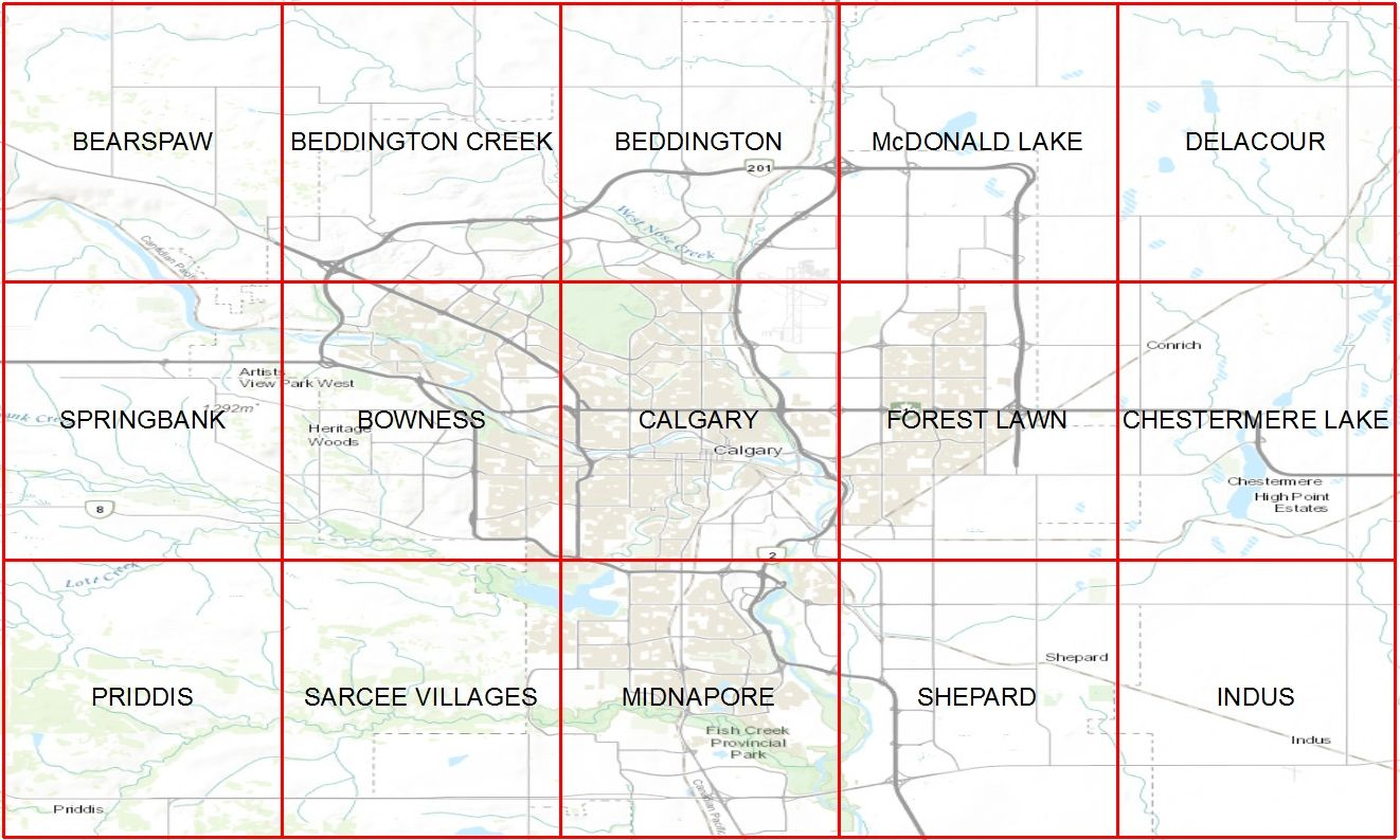 Calgary Area Digital Historic Maps Library at University of
