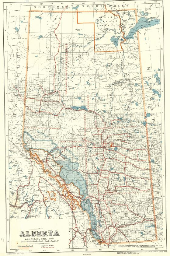 Scanned maps from the University of Calgary collection Map