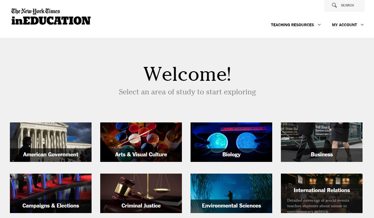 welcome screen of inEducation