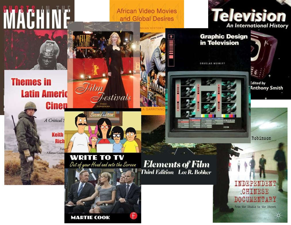 Montage of Book Covers on Film and TV