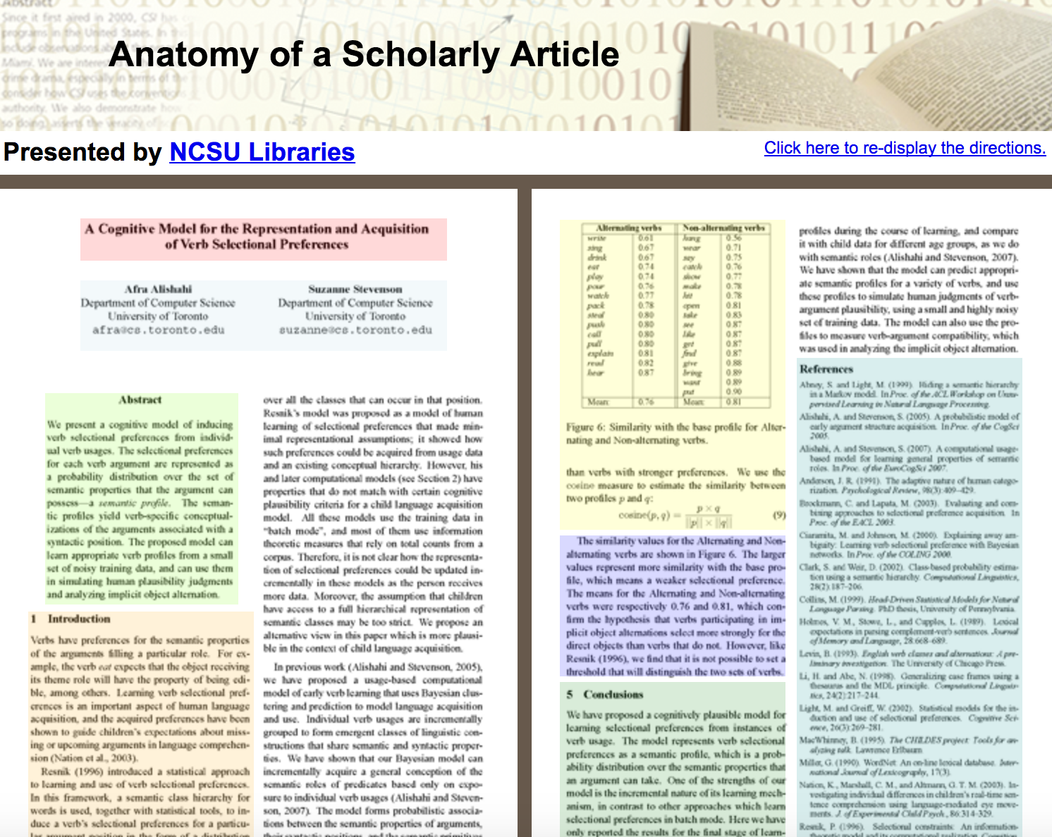 anatomy of a scholarly article screenshot